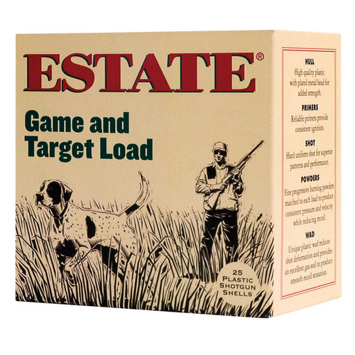 "Estate Cartridge Game and Target 12GA 2-3/4"" 1-1/8 oz #8 Lead Shot 250 Rounds"