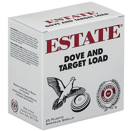 "Estate Cartridge 12GA 2.75"" 1-1/8""oz #8 Lead Shot 25 Rounds"