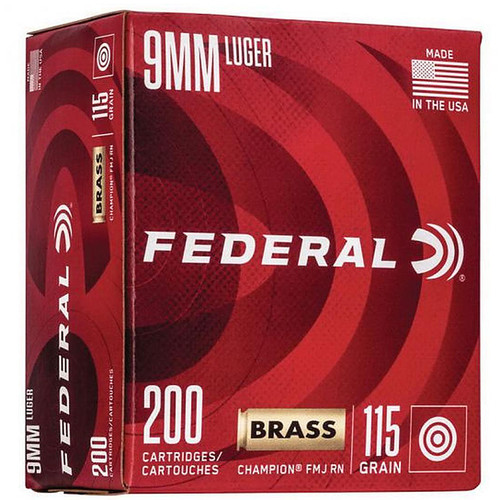 Federal Champion 115GR FMJ 9mm 200 Rounds