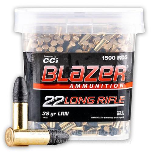 CCI Blazer 22 LR 38GR LRN 1500 Rounds
