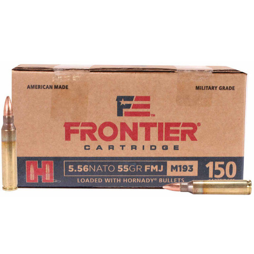 Hornady Frontier 5.56 NATO 55GR FMJ 150 Rounds