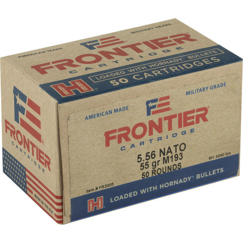 Hornady Frontier 5.56 NATO 55GR FMJ 50 Rounds