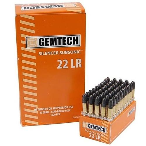 Gemtech Silencer Subsonic 22LR 42GR LRN 500 Rounds