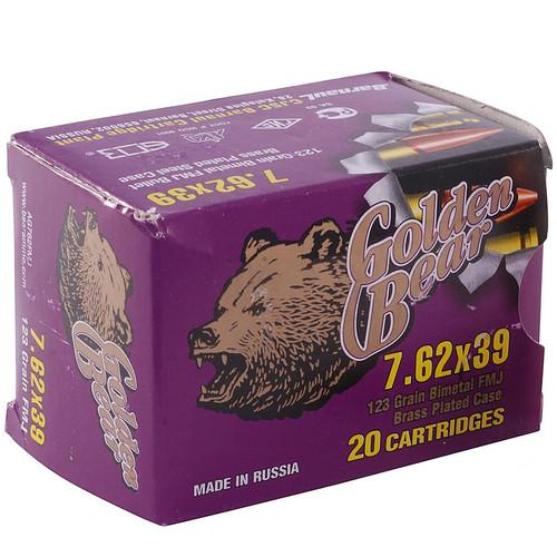 Golden Bear 7.62x39mm 123GR FMJ 20 Rounds