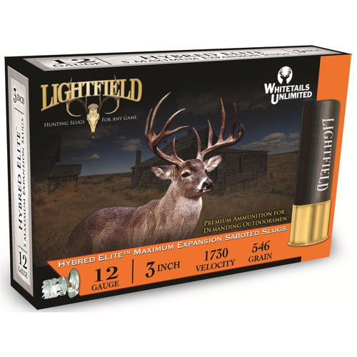 "Lightfield Hybred-Elite 12 GA 3"" 1-1/4oz Sabot Slug 5 Rounds"