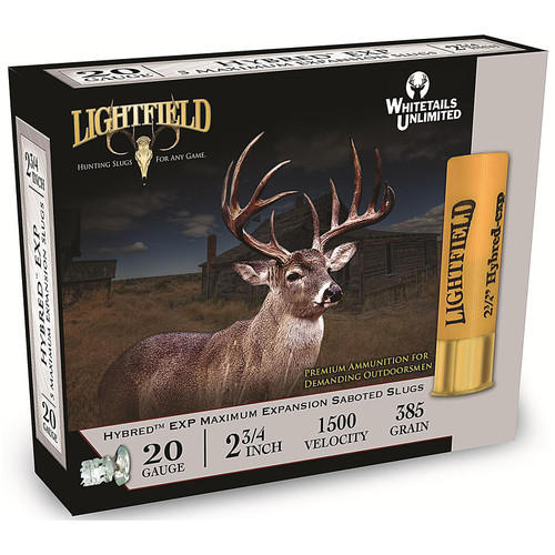 "Lightfield Hybred EXP Ammunition 20GA 2-3/4"" 7/8oz Sabot Slug 5 Rounds"