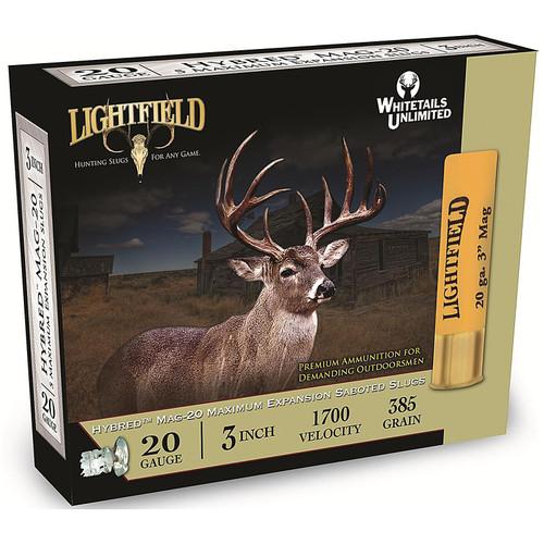 "Lightfield Magnum Hybred EXP 20 GA 3"" 7/8 oz Sabot Slug 5 Rounds"