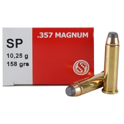 Sellier & Bellot 357 Magnum 158GR Jacketed Soft Point 50 Rounds