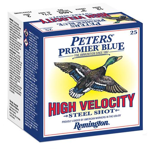 "Remington Peters Premier Blue High Velocity Steel 12g 3"" Steel Shot 25 Rounds"