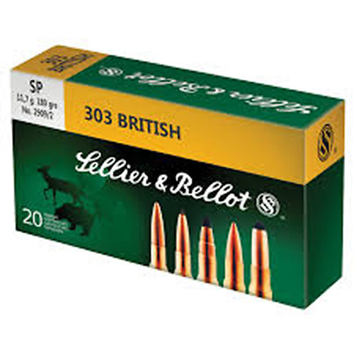 Sellier & Bellot 303 British 180GR FMJ Box of 20