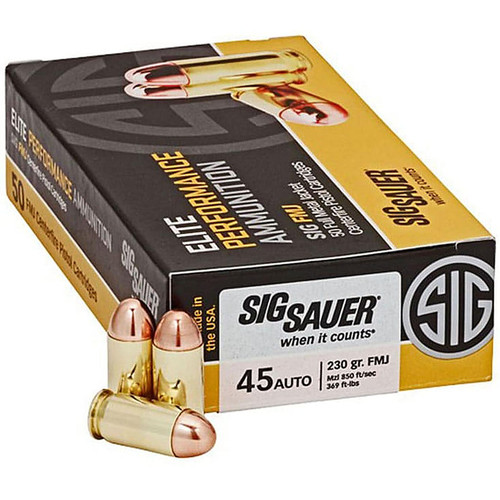 Sig Sauer Elite Performance Ammunition 45 ACP 230GR FMJ