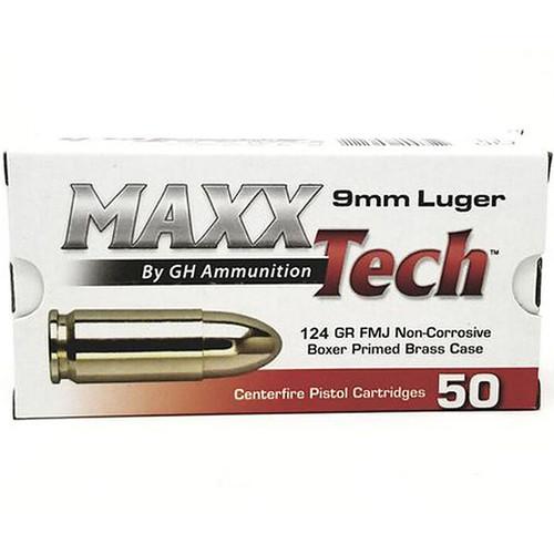 MAXXTech 9mm Luger 50 Rounds FMJ 124GR PTGB912B