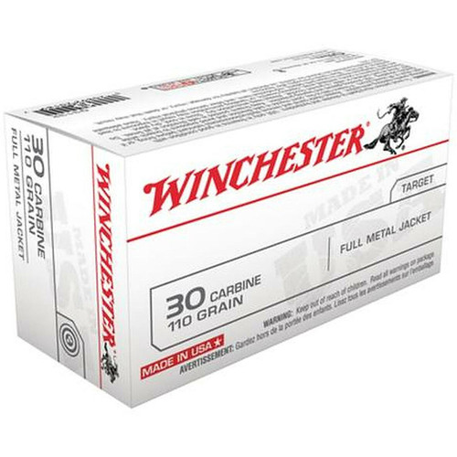 Winchester 30 Carbine Full Metal Case 110GR, 50 Rounds