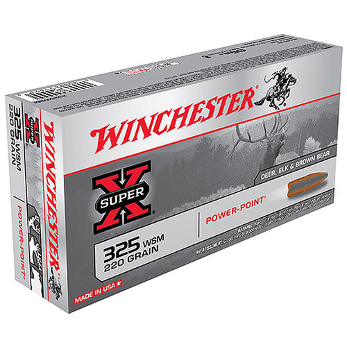 Winchester X325WSM Super-X 325 Winchester Short Magnum 220GR Power-Point 20 Rounds