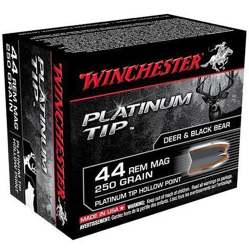 Winchester .44 Mag 250GR Platinum Tip HP 20 Rounds