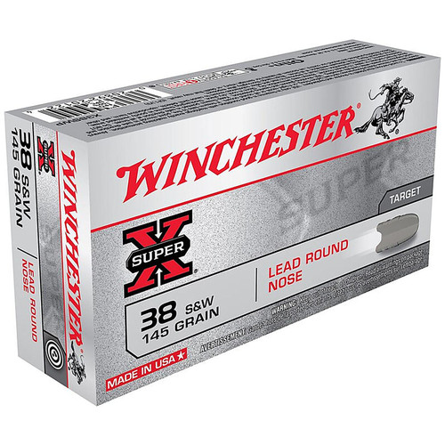 Winchester Super-X 38 S&W 145GR Lead Rounds Nose 50 Rounds