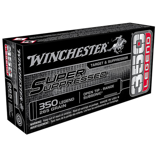 Winchester Super Suppressed .350 Legend Open Tip Range 265GR SUP350 20 Rounds