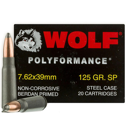 Wolf Performance 7.62x39 SP 125GR 20 Rounds