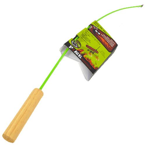 "Firebuggz Fish Pole Campfire Hotdog Marshmallow Roaster Stainless Steel 34"""