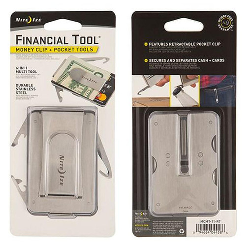 Nite Ize Financial Money Clip/Multitool Mcmt-11-R7