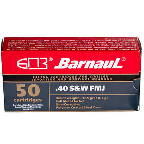 Barnaul Polycoated Steel Case .40 S&W 165 GR FMJ 50 Rounds