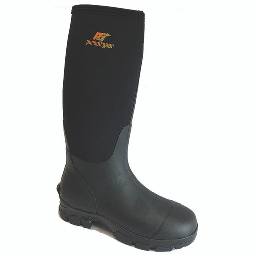 World Famous Sports Women's 4MM Neo Tall Rubber Black Boots