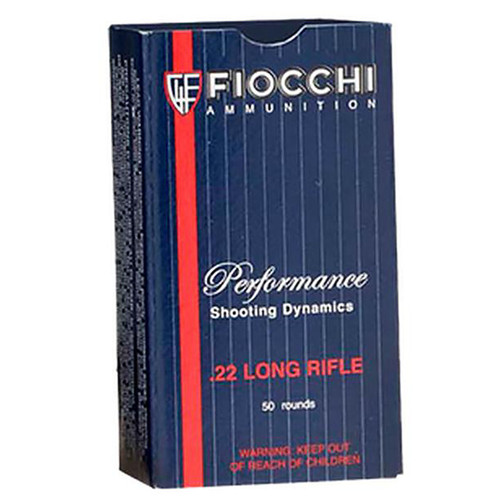 Fiocchi Performance Shooting Dynamics Rimfire Ammunition .22 LR 40 gr LRN 50/box