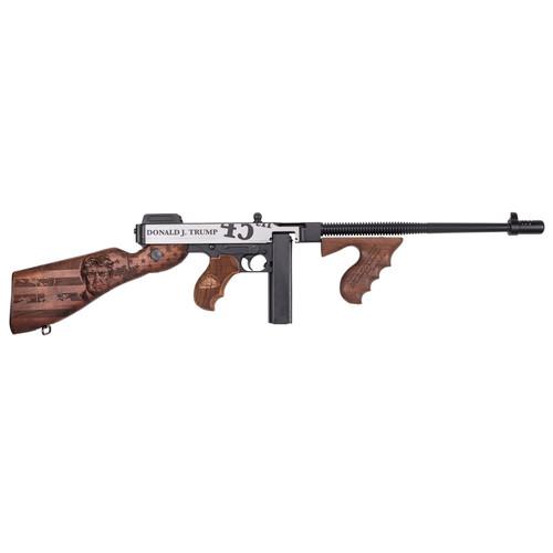 """Auto-Ordnance Thompson 1927A-1 Trump Deluxe .45 ACP Semi Auto Rifle 16.5"""" Finned Barrel 50 Round Drum/20 Round Stick Walnut Furniture"""