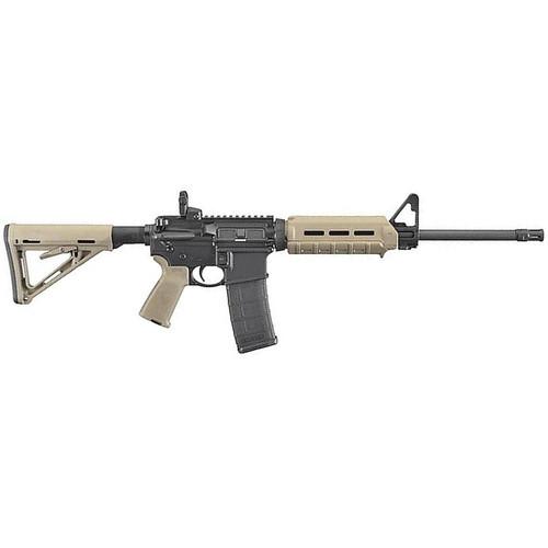 "Ruger MOE AR-556 AR-15 Semi Auto Rifle 5.56 NATO 16"" Barrel 30 Rounds Magpul MOE Collapsible Stock/Pistol Grip/Hand Guard Flat Dark Earth"