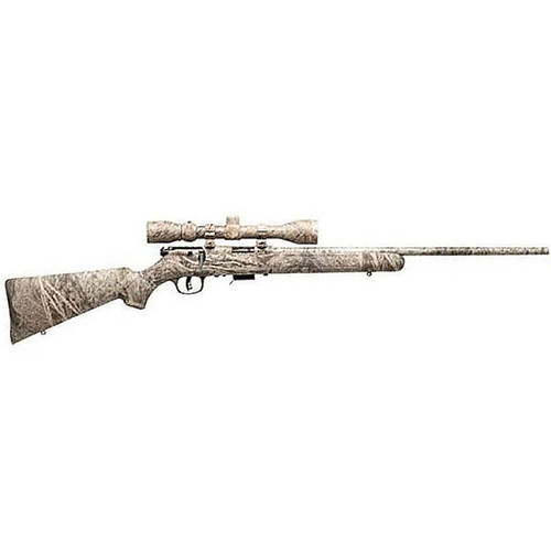 """Savage 93 R17 XP Bolt Action Rimfire Rifle Package .17 HMR 22"""" Barrel 5 Rounds 3-9x40mm Scope Mossy Oak Brush Synthetic Stock"""