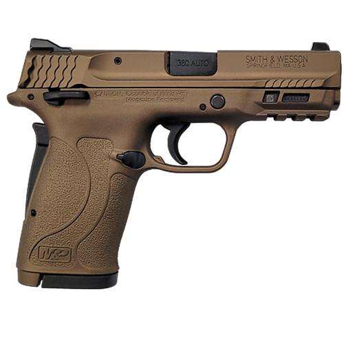 Smith & Wesson M&P380 Shield EZ M2.0 Pistol 13290, 380 ACP, 3.6 in, Burnt Bronze Finish, 8 Rd