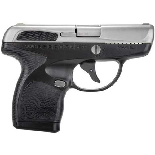 "Taurus Spectrum .380 ACP Semi Auto Pistol 2.8"" Barrel 6 Rounds Polymer Frame Two Tone Stainless/Black Finish"