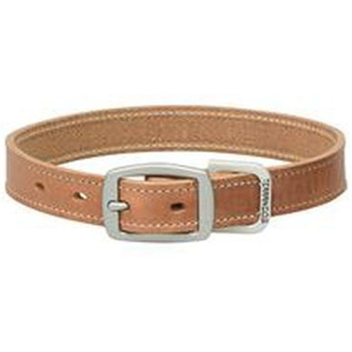 "Straight Collar Leather - Russett, 1"" x 19"""