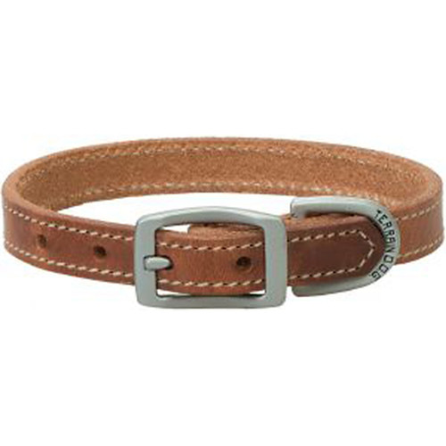 "Straight Collar Leather - Russett, 3/4"" x 17"""