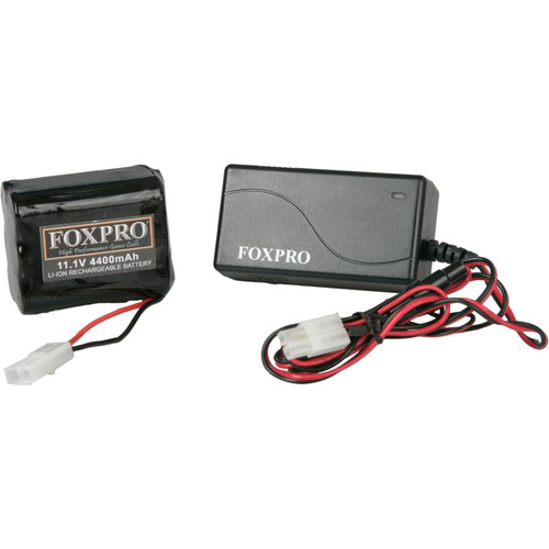 FOXPRO LITH/CHG 10 CELL RECHARGABLE LITHIUM BATTERY/CHARGER KIT