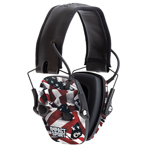Howard Leight H/L IMPACT SPORT MUFF ONE NATION FLG