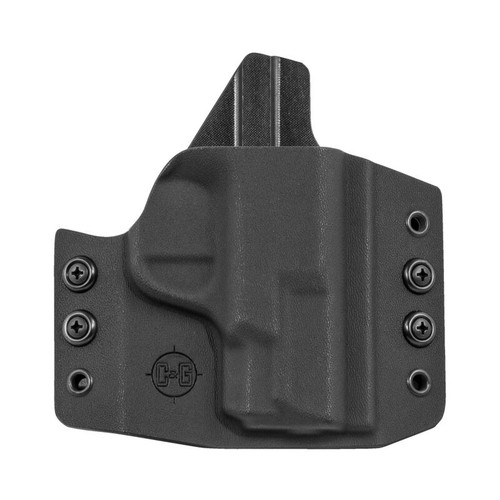 C&G Holsters Covert OWB Holster for S&W M&P Shield Right Hand Draw Kydex Black