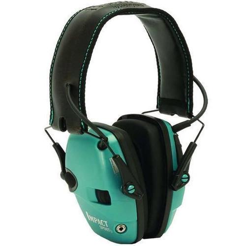 Howard Leight Impact Sport Folding Electronic Earmuff Teal R-02521