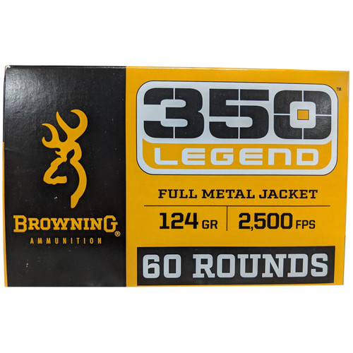 Browning FMJ Target .350 Legend 124GR FMJ Brass Cased 60 Rounds