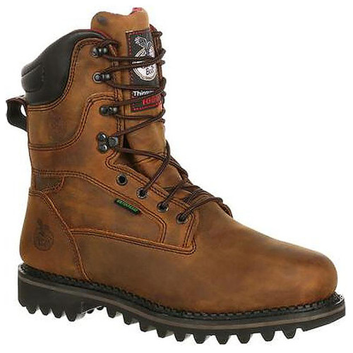 "Georgia Boots Men's 9"" Brown G8162 1000G Waterproof Insulated Work Boots"