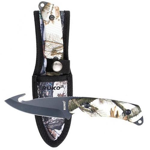 "Ruko 3-1/4"" Fixed Blade Skinning Knife Tundra Camo, RUK0105TND"