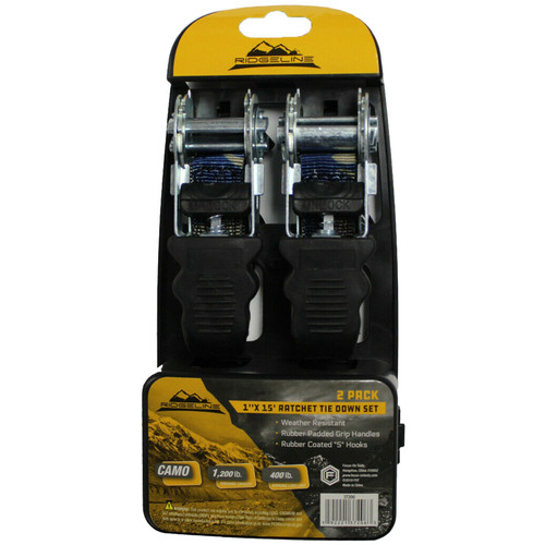 "Focus-On Tools (FOT) 2Pc 1""X15' Ractchet Tie Down 37206"
