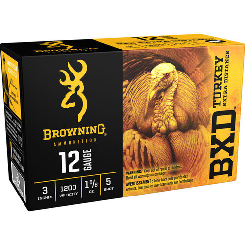 "Browning 12 Gauge Ammo 3"" 1-5/8 oz. #5 Shot 10 Rounds"