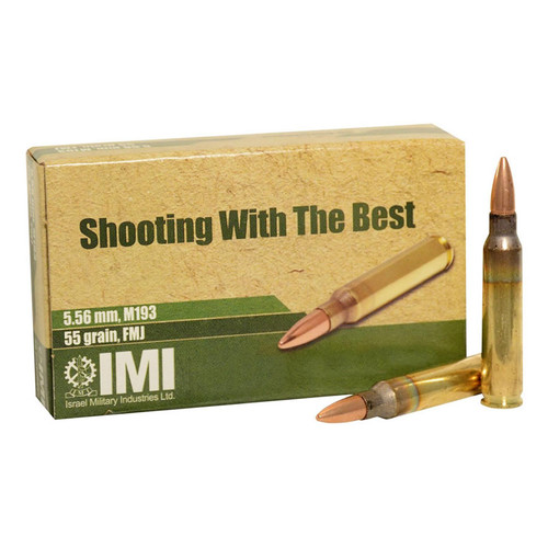 IMI M193 5.56mm Ammo 55GR FMJ 20 Rounds