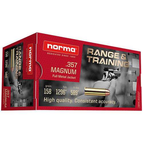 Norma Ammunition (RUAG) 620640050 Range and Training 357 Mag 158GR FMJ 50 Rounds