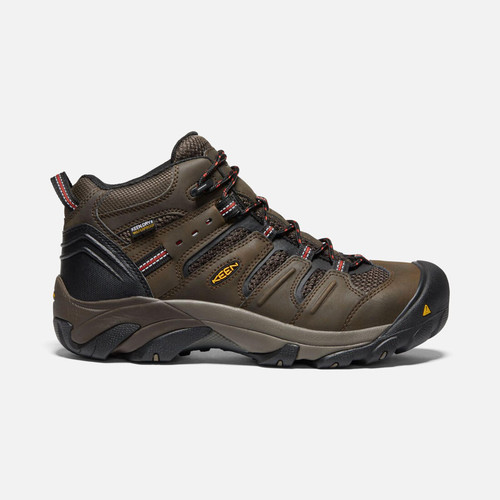 Keen 1022098 Men's Lansing Mid Waterproof (Steel Toe) Boots