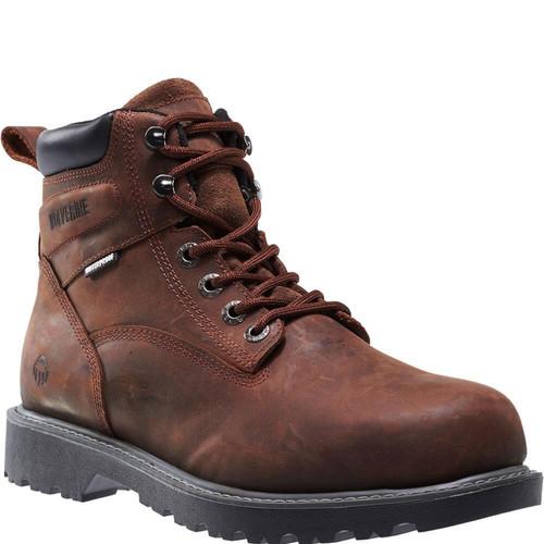 "Wolverine W10633 Men's Floorhand Waterproof Steel-Toe 6"" Work Boots"