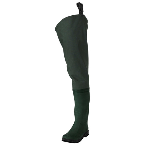 Frogg Toggs 2716243 Cascades 2-Ply Poly / Rubber Cleated Bootsfoot Hip Waders