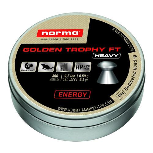 Norma Golden Trophy FT Heavy Air Gun Pellets Caliber 4.5 mm 9.1 Grain Tin of 300