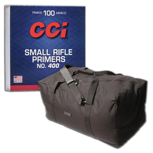 CCI 0013 No. 400 Small Rifle Primer Case of 1000 Combo with Blackhawk CZ Gear Bag